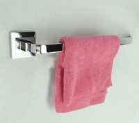 Thick bath towel bath towel bar hanging rod Single rod copper chrome towel rack bathroom wall mounted