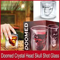 Factory EMS Newest Doomed Crystal Skull Shot Glass,Crystal Skull Head Vodka Shot Wine Glass Novelty Cup Creative