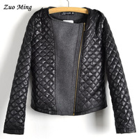 2013 New winter fashion long-sleeve quilting stitching woolen coat ,zipper patchwork women's outerwear size:S-L fast shipping