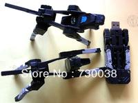 U disk 4GB 8GB 16GB 32GB USB 2.0 Flash Memory Stick Drive Thumb/Car/Pen Free ship Silver Deform Machine Wolf