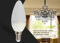 Hot free ship Ceramic led candle lamp 3w 2835 energy saving bulb candle lamp e14 e27 Milky white chimney chandelier led bulb