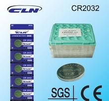 Z08001 - frete grátis 50PCS de lítio CR2032 Coin Botão celular bateria 2032 3v CLN assistir bateria(China (Mainland))