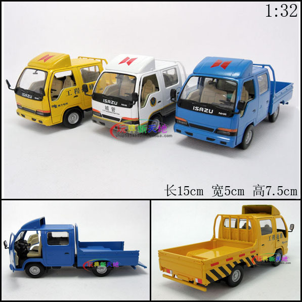 1set Mini Boys Kids Lovely Toys 15x5x7.5cm Mix Color Isuzu card light acoustooptical classic cool alloy car Auto model Free Ship(China (Mainland))
