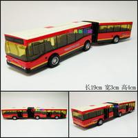 1set Beauty Bus Toys 19x3x4cm Boys Lovely Your good friend of the double bus Model Three DoorAalloy Car model Free Ship