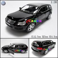 1Set Black Color 12.5x5x4.5cm Cute Soft World WARRIOR car VW Volkswagen Touareg 1:32 Black Alloy Car Models Boys Gift Toy