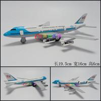 1set 19.5X6X6CM Warrior Boeing Jets Charming Cute Light Blue Alloy Model Toy Airplane Free Ship Boys Education Cute Toys