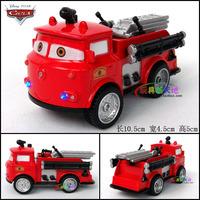 1set 10.5x4.5x5cm Red Color Cute MIni Boys Toys  Aerial ladder fire truck WARRIOR plain alloy car model  Birthday Gift Xmas Gift