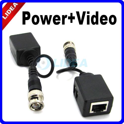 UTP Network CAT5 BNC DVR Power Video Balun for CCTV Camera EMS B-05(China (Mainland))