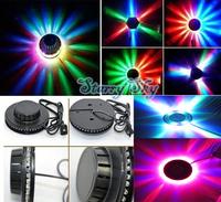 New Colorful rotating stage lights colorful lights UFO light KTV Stage Light BK black AC90V-240V 8W free shipping