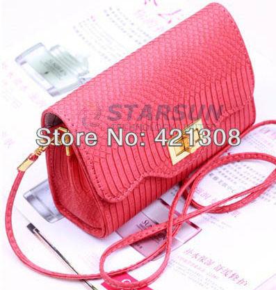 Free shipping women's bags 2013 women's handbag crocodile pattern chain small bag handbag 6807(China (Mainland))