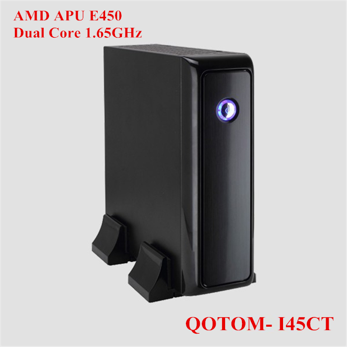 2013 Low cost thin client with free shipping wifi pc and hdmi AMD E450 Dual Core1.65GHz QOTOM-I45CT(China (Mainland))
