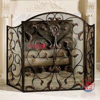 Fashion iron fireplace screen roast stove screen fireplace cover fireplace fence