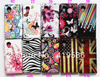 Plum Flower UK US Flag Butterfly Meteor Star Jellyfish Zebra Card Slot Stand Wallet Leather Case For LG Google Nexus 5 E980 D820