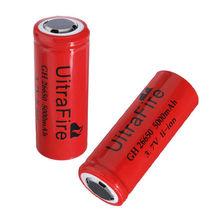 Срок годности Ultrafire 5000 мАч 3,7 v 26650 перезаряжаемый аккумулятор для фонарик факел красный