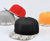 Adjustable Flat Bill Snake Emboss Hip Hop Baseball Snapback Cap Hat