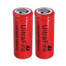 Прямые продажи 4x Uirtufire 5000 мАч 3,7 v 26650 перезаряжаемый аккумулятор для светодиодный фонарик факел