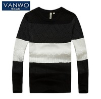 Brand Fashion High Quality Men's Thickening Sweater Twisting Assorted Colors Design Personality Pullover