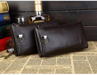 New Arrival fashion men business clutch bag, genuine leather clutch wallet,cowhide business card holder,100% real leather wallet