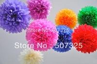 100pcs - 12''=30 CM Tissue Pom Pom Paper Pompoms Wedding Decoratons Party Poms House Decor, 25 Colors To Pick