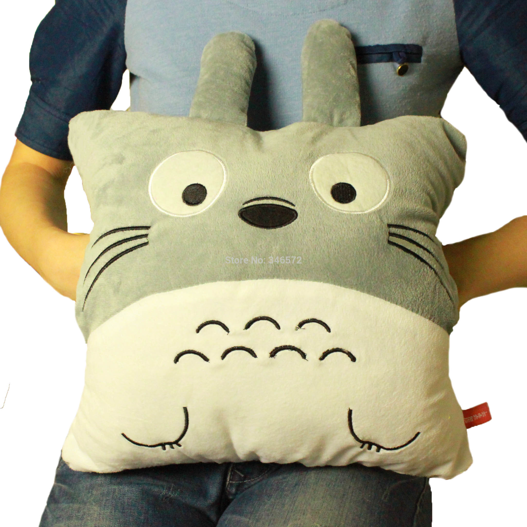 Free shipping totoro hand pillow hand warmer plush toy cloth doll hand po Wholesale(China (Mainland))