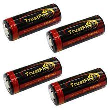 4 х TRUSTFIRE TF 3.7 В li po 26650 5000 мАч аккумуляторная батарея