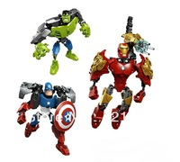 Toys for children blocks building puzzle Iron Man, Hulk, Captain America fight inserted toys Compatible with Lego