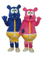 Deep Pink Bear Monster Mascot Costume halloween christmas carnival anime costumes adult dress