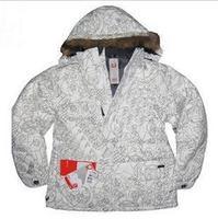 Burton burdon abstract decorative letter pattern polar down coat ski suit