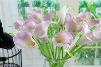 3set/30pcs Free Shipping Home Party Garden Bridal Decor Calla Lily Bouquet Flower Artificial Latex