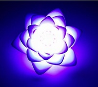 3pcs Changing Colors Lotus LED wedding party christmas decoration items Romantic gift Flower Light Night Lamp