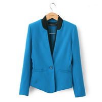 Autum New fashion V-Collar General Blazer,American European Style, one botton,Coat,Suit Jacket for Women Free Shipping