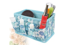 Free shipping 3pcs/lot   Fabric Folding Cosmetics Desktop Storage Box Desk collection box 5 colors SW078