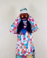 Burton protest multicolour polka dot women's ski suit thin cotton-padded jacket