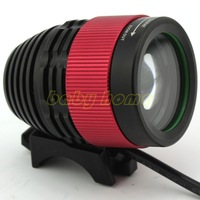Zoomable CREE XM-L T6 LED Bike Light Bicycle Front Lamp Headlight Headlamp for Hunting 8.4V Battery Pack, Free Shipping