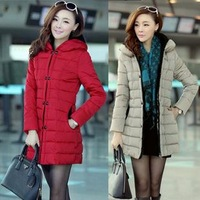 807 2013 winter slim medium-long patchwork down coat with a hood outerwear women's