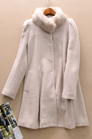 Yd224 women's o autumn and winter rabbit fur wool brief wool coat outerwear  Free shipping