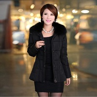 Quinquagenarian down coat short design women's with a hood elderly clothing