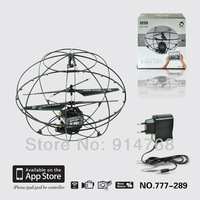 Free shipping New Happycow 777-289wifi iphone remote real-time transmission flyball wifi UFO i-spy UFO 3.5CH  RC helicopter