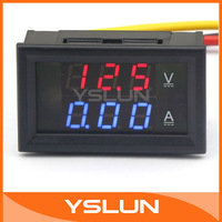 "multi-usage 0.28"" DC 4.5-30V/10A Red/Led LED Dual display Voltmeter Amperemeter 2in1 Volt Amp Panel Meter YB27VA #100173"