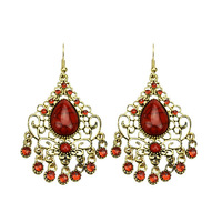 New 2014 Fashion Design Jewelry Gifts Simulated Gemstone Vintage Gothic  Water Drop Alloy  Earrings For Women