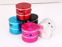 1PCS Free Shipping, 5 Colors Micro SD Read Vibration Speaker 10W, 360 Degree Sound Portable Mini Vibration Resonance Speaker