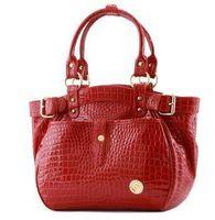 2013 goldfish women's handbag fashion crocodile pattern shoulder bag red