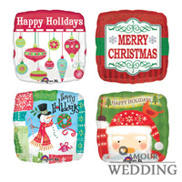 Christmas Qu-h70 Christmas decoration balloon aluminum squares birthday