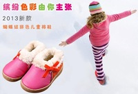 2013 new leather slip waterproof snow boots wool children 1 ~ 3 years old shoes kids warm winter shoes for girls boys