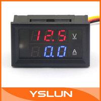 "multi-usage 2in1 Digital DC 4.5-30V Voltmeter 50A Ammeter 0.28"" LED Panel Meter Dual  Display Volt Amp Meter YB27VA #100174"