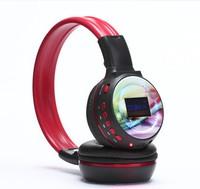 1PCS Free Shipping, Fashion Screen MP3 Headphone, Colorful SD Read Headphone, Computer Mobile Headband Headphone with Microphone