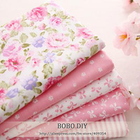FREE SHIPPING,8 Pieces /size 40cm*50cm ,tilda doll Pink series cotton patchwork fabric square for DIY, home textile,B20131112