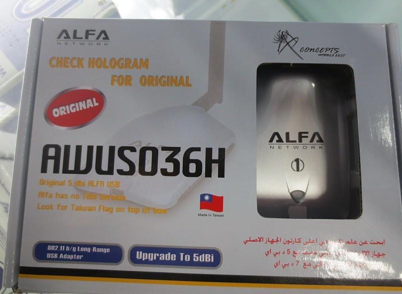 High Power ALFA AWUS036H 1000MW WIFI USB Adapter 5DB Antenna Wireless adaptor Realtek8187L Chipset Free Shipping Dropshipping(China (Mainland))