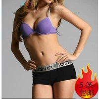 2014 Top Fasion Time-limited Appliques Solid Everyday String Calcinha Steel 5 Occasion Women's Broad-brimmed Boxer Panties J041