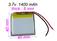 3.7V 1400 mAh Rechargeable Polymer Lithium battery for GPS PSP Bluetooth Headset  Mobiles Backup power Supply Tablet PC 804040